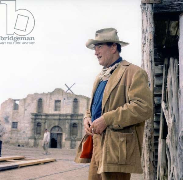 On The Set, John Wayne, The Alamo 1960 Directed By John Wayne