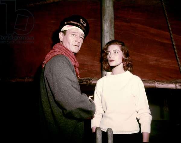 L'Allee sanglante Blood Alley de William Wellman et John Wayne, d'apres un roman d'Albert Sidney Fleischman, avec Lauren Bacall, John Wayne, 1955 (photo)