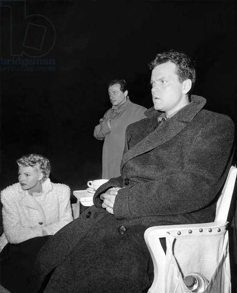 On The Set, Rita Hayworth And Orson Welles.