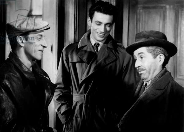 Raymond BussiâÈres, Yves Montand And Julien Carette.