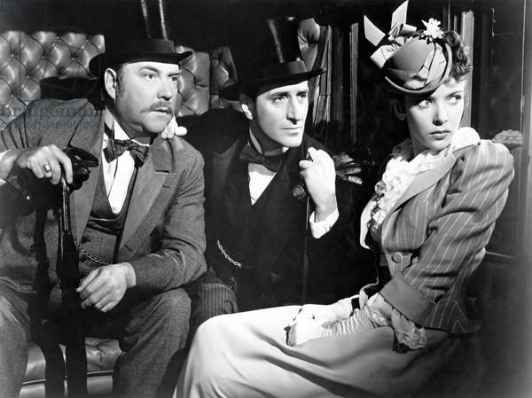 Nigel Bruce, Basil Rathbone And Ida Lupino., The Adventures Of Sherlock Holmes 1939 Directed By Alfred Werker