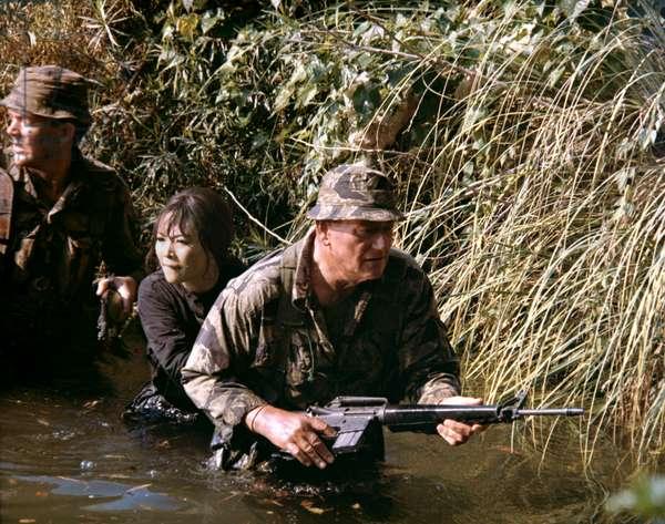 David Janssen, Irene Tsu And John Wayne.