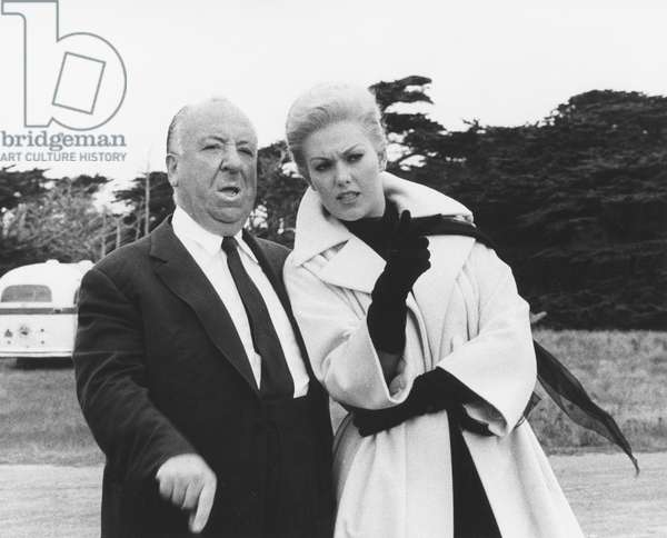 On The Set, Alfred Hitchcock And Kim Novak, Vertigo 1959 Directed By Alfred Hitchcock