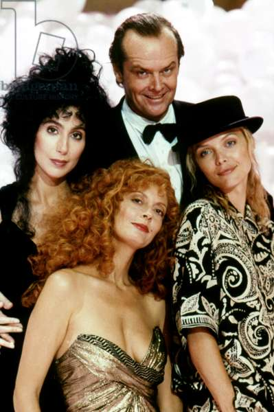 Cher, Susan Sarandon, Jack Nicholson And Michelle Pfeiffer, The Witches Of Eastwick 1987 Directed By George Miller