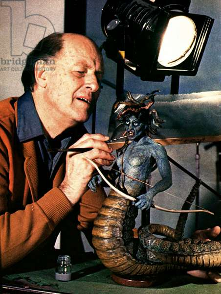 Ray Harryhausen, Producer And Creator Of Special Visual Effects., Clash Of The Titans 1981 Directed By Desmond Davis