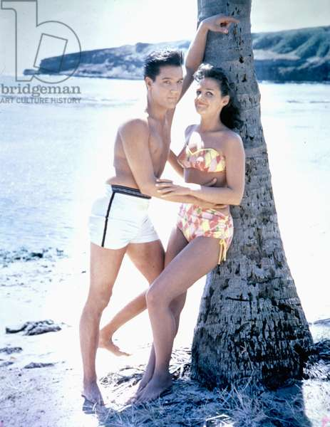Elvis Presley And Joan Blackman , Blue Hawaii 1961 Directed By Norman Taurog