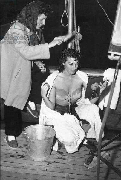 On The Set With Ava Gardner.