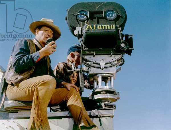 On The Set, Behind The Camera, John Wayne., The Alamo 1961 Directed By John Wayne