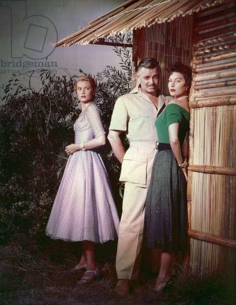 Ava Gardner, Clark Gable And Grace Kelly.