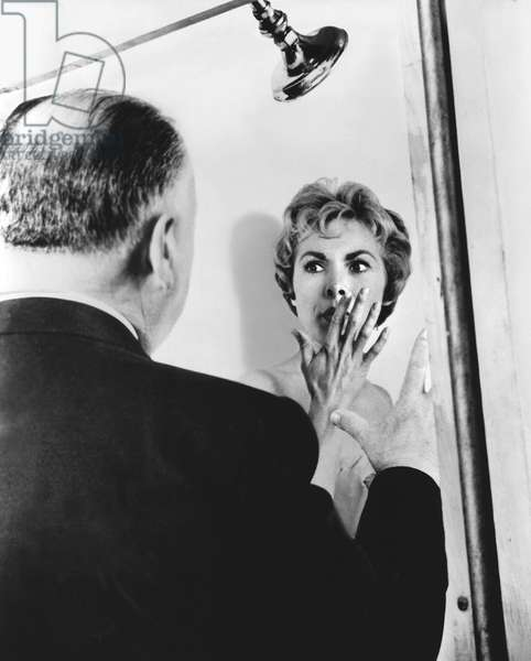 On The Set, Alfred Hitchcock Directs Janet Leigh.