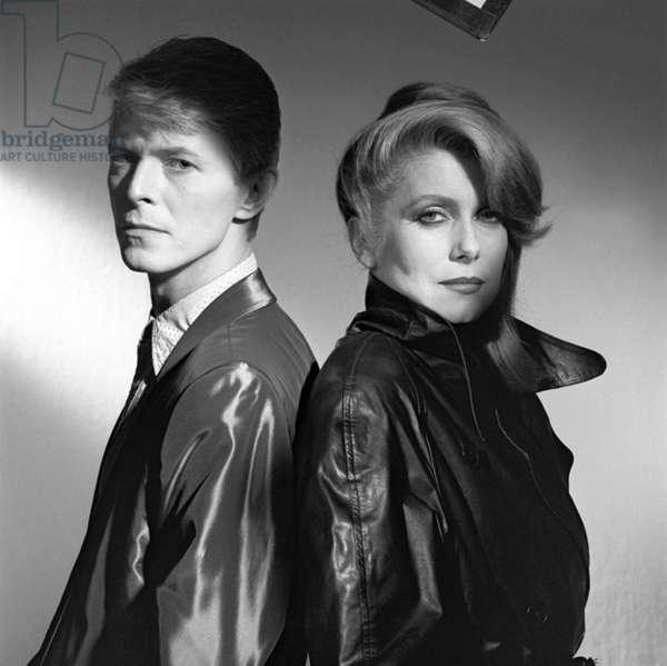 Les predateurs FAIGER de Tony Scott avec David Bowie et Catherine Deneuve, 1983 (photo b/s)