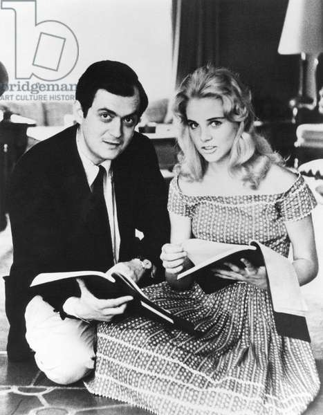 On The Set, Stanley Kubrick With Sue Lyon.