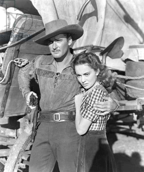 Errol Flynn And Olivia De Havilland, Dodge City 1939 Directed By Michael Curtiz