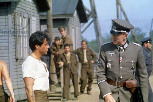 Sylvester Stallone And Max Von Sydow, Escape To Victory 1981 Directed By John Huston