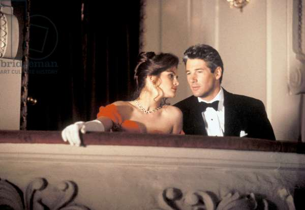 Julia Roberts and Richard Gere in 'Pretty Woman' directed by Gary Marshall, 1990 (photo)