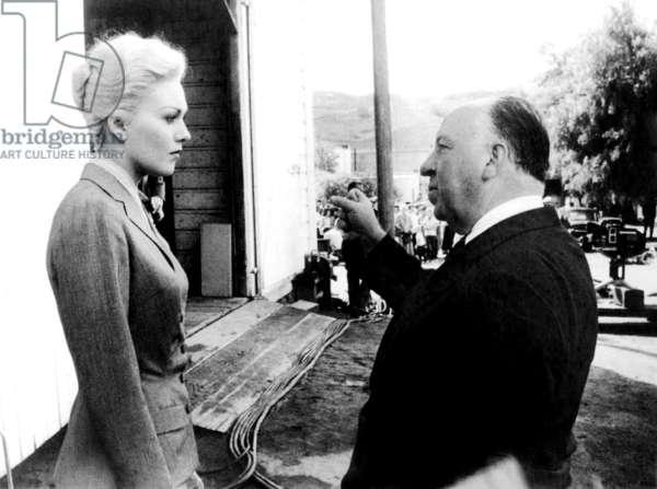 Kim Novak And Alfred Hitchcock On The Set, Vertigo 1958 Directed By Alfred Hitchcock