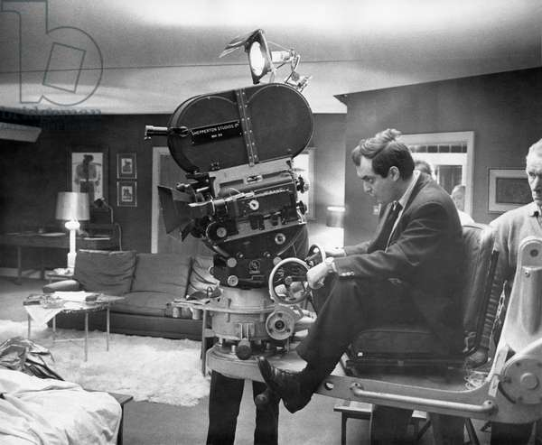 On The Set, Stanley Kubrick Behind The Camera., Dr Strangelove 1964 Directed By Stanley Kubrick