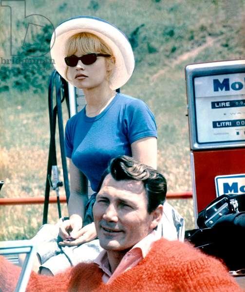 Brigitte Bardot And Jack Palance
