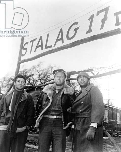 Harvey Lembeck, William Holden And Robert Strauss.