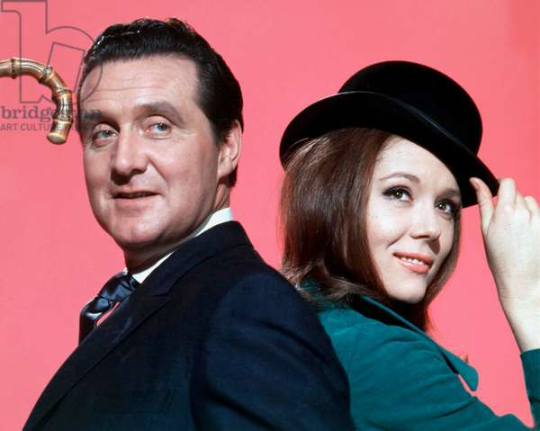 England, 1968, Portraits Of Patrick Mcnee And Diana Rigg In Their Roles As John Steed And Emma Peel .