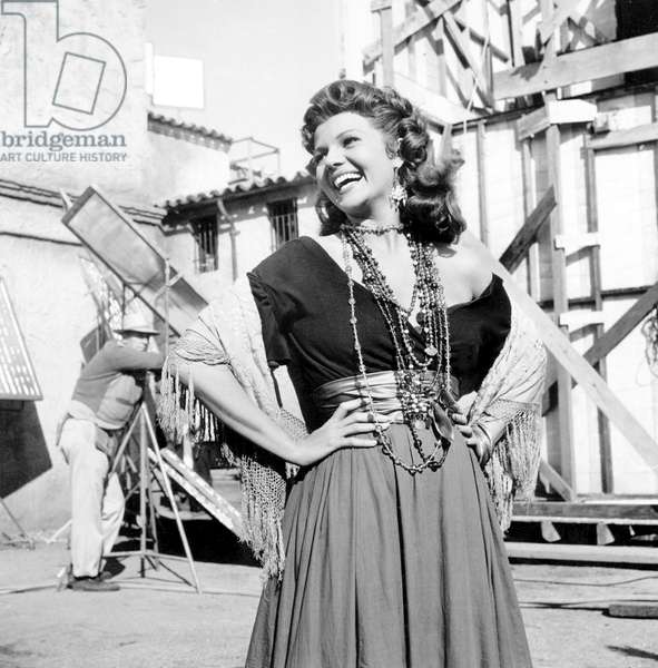 On The Set, Rita Hayworth.