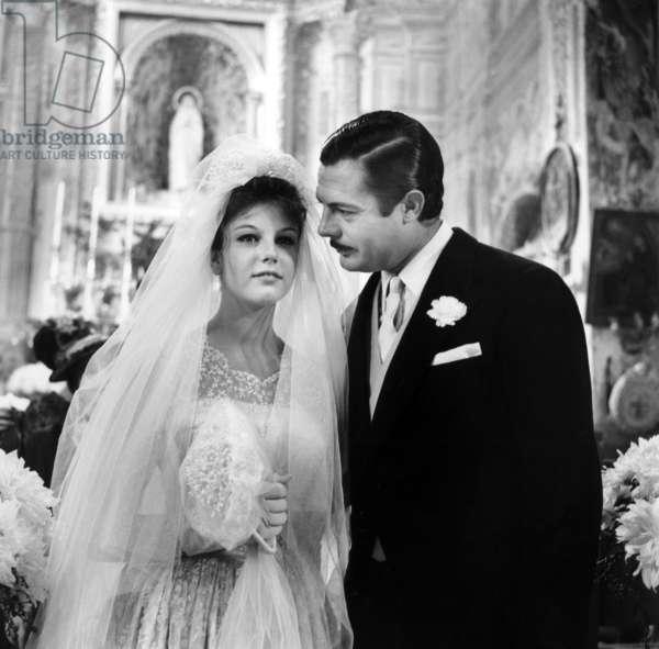 Stefania Sandrelli And Marcello Mastroianni, Divorce A L'Italienne 1961 Directed By Pietro Germi