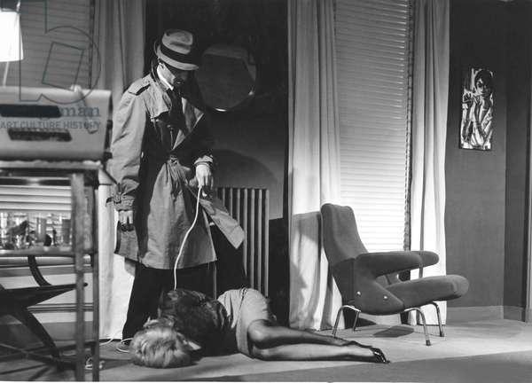 Jean-Paul Belmondo And Monique Hennesy, Le Doulos 1963 De Jean Pierre Melville