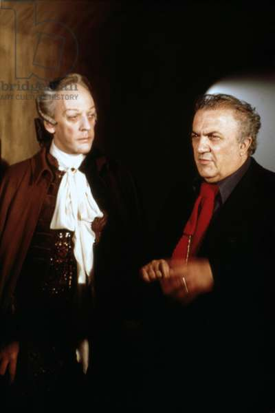 On The Set, Donald Sutherland With Federico Fellini (Director)., Casanova 1976 Directed By Federico Fellini