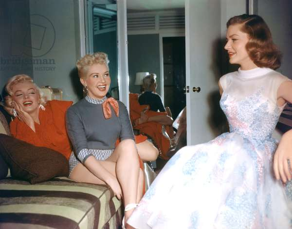 Marilyn Monroe, Betty Grable And Lauren Bacall.