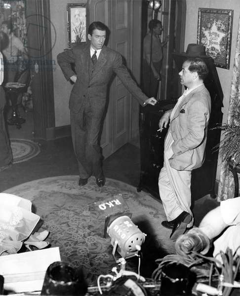 On The Set, James Stewart And Frank Capra (Director).
