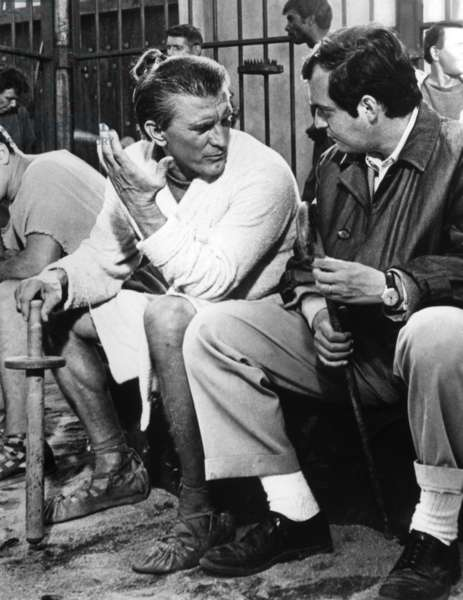 On The Set, Kirk Douglas And Stanley Kubrick.