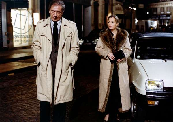 Yves Montand and Romy Schneider, in CLAIR DE FEMME 1979
