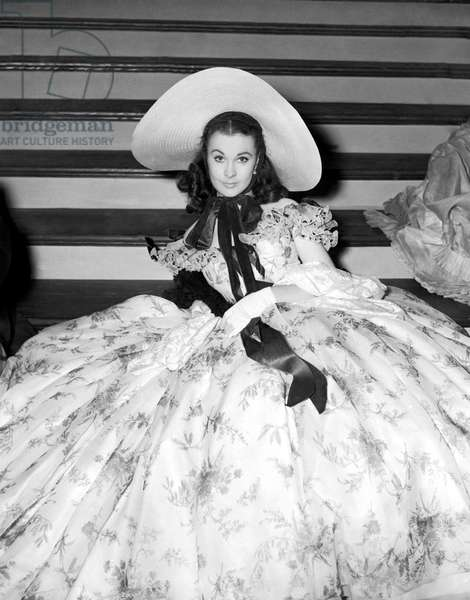 """""""Gone With The Wind"""" Starred Vivien Leigh, Shown Here In A Publicity Still.  Leigh Won The Lead Actress Academy Award For Her Portrayal Of Scarlett O'Hara In The 1939 Film."""