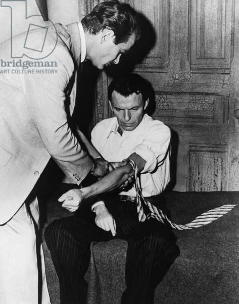 L'Homme au bras d'or THE MAN THE GOLDEN ARM par Otto Preminger avec Darren McGavin et Frank Sinatra, 1955 (photo b/w)