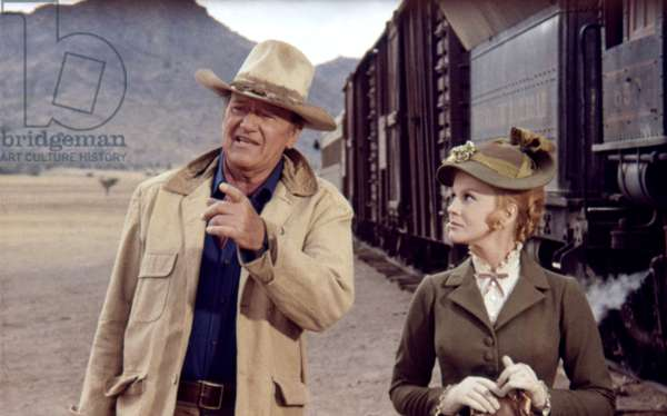 John Wayne And Ann-Margret, The Train Robbers 1973 Directed By Burt Kennedy