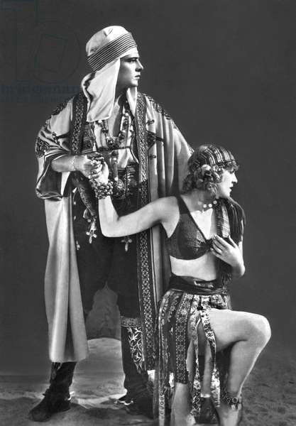 Rudolph Valentino And Vilma Banky