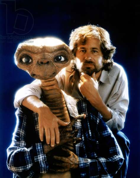 Director Steven Spielberg And E.T., E.T. 1982 Directed By Steven Spielberg