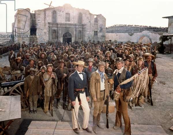 Laurence Harvey, Richard Widmark And John Wayne., The Alamo 1960 Directed By John Wayne