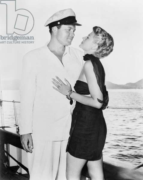 Orson Welles And Rita Hayworth On The Movie.