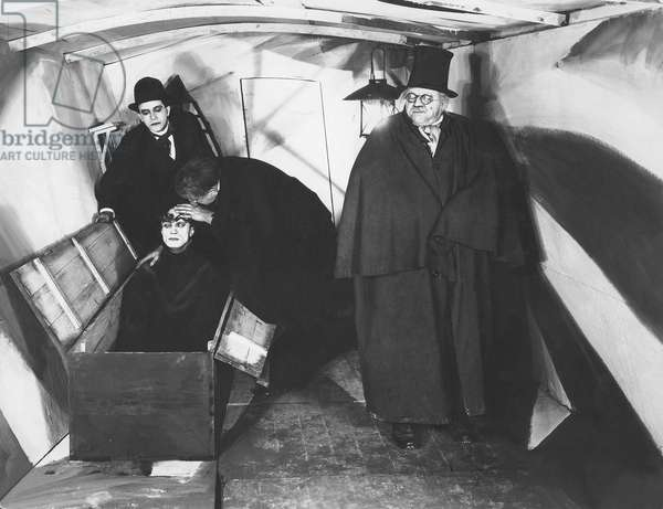 Conrad Veidt And Werner Krauss, Das Kabinet Des Doktor Caligari 1920 Directed By Robert Wiene