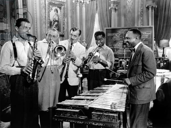 Charlie Barnet, Tommy Dorsey, Benny Goodman, Louis Armstrong And Lionel Hampton., A Song Is Born 1948 Directed By Howard Hawks