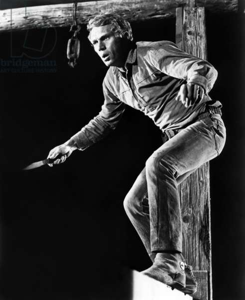 NEVADA SMITH, 1966 directed by HENRY HATHAWAY Steve McQueen (b/w photo)