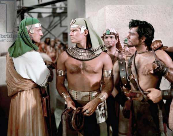Vincent Price, Charlton Heston And John Derek, The Ten Commandments 1956 Directed By Cecil B. Demille