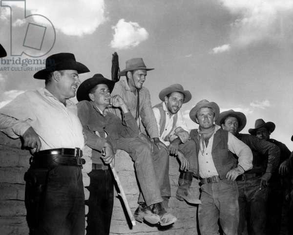 Brian Donlevy, Glenn Ford, Dick York, King Donovan And Richard Jaeckel., Cowboy 1958 Directed Delmer Daves