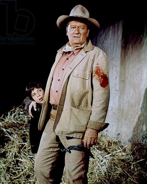 John Ethan Wayne (Playing Big Jake'S Grandson) And John Wayne, Big Jake 1971 Directed By George Sherman And John Wayne (Uncredi
