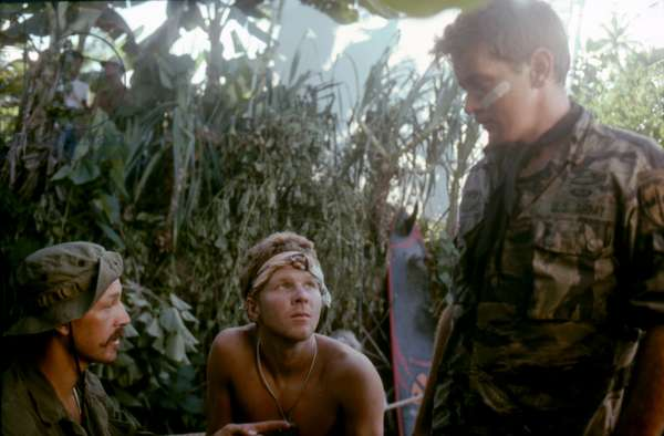 Frederic Forrest, Sam Bottoms And Martin Sheen., Apocalypse Now 1979 Directed By Francis Ford Coppola