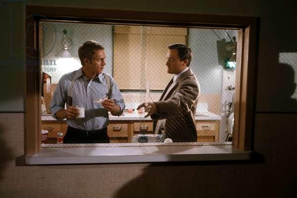 Steve Mcqueen And Robert Vaughn, Bullitt 1968 Directed By Peter Yates
