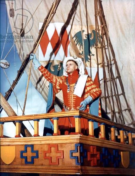 Laurence Olivier in 'Henry V', 1944 (photo)