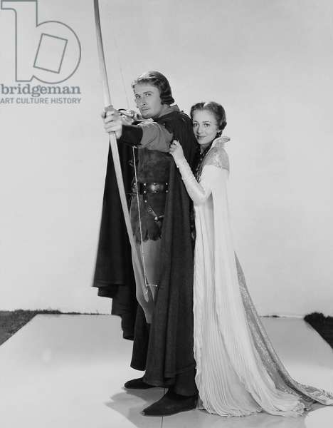 Errol Flynn And Olivia De Havilland, The Adventures Of Robin Hood 1938 Directed By Michael Curtiz And