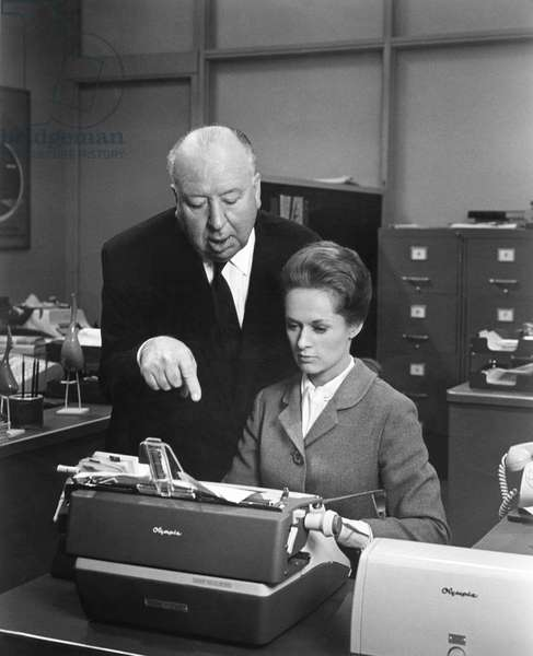 On The Set, Alfred Hitchcock Directs Tippi Hedren.